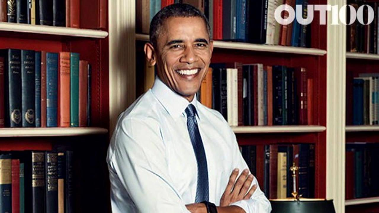 President Obama is the first sitting president to be featured on the cover of an LGBT periodical.