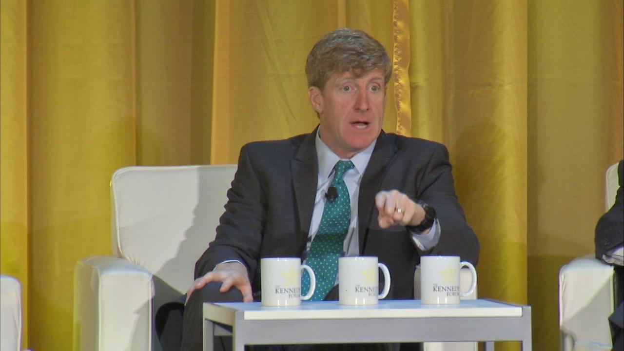 Patrick Kennedy led the Kennedy Forum at the Chicago Hilton on Wednesday.