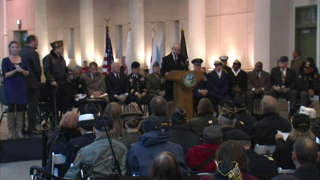 City honors veterans during Soldier Field ceremony
