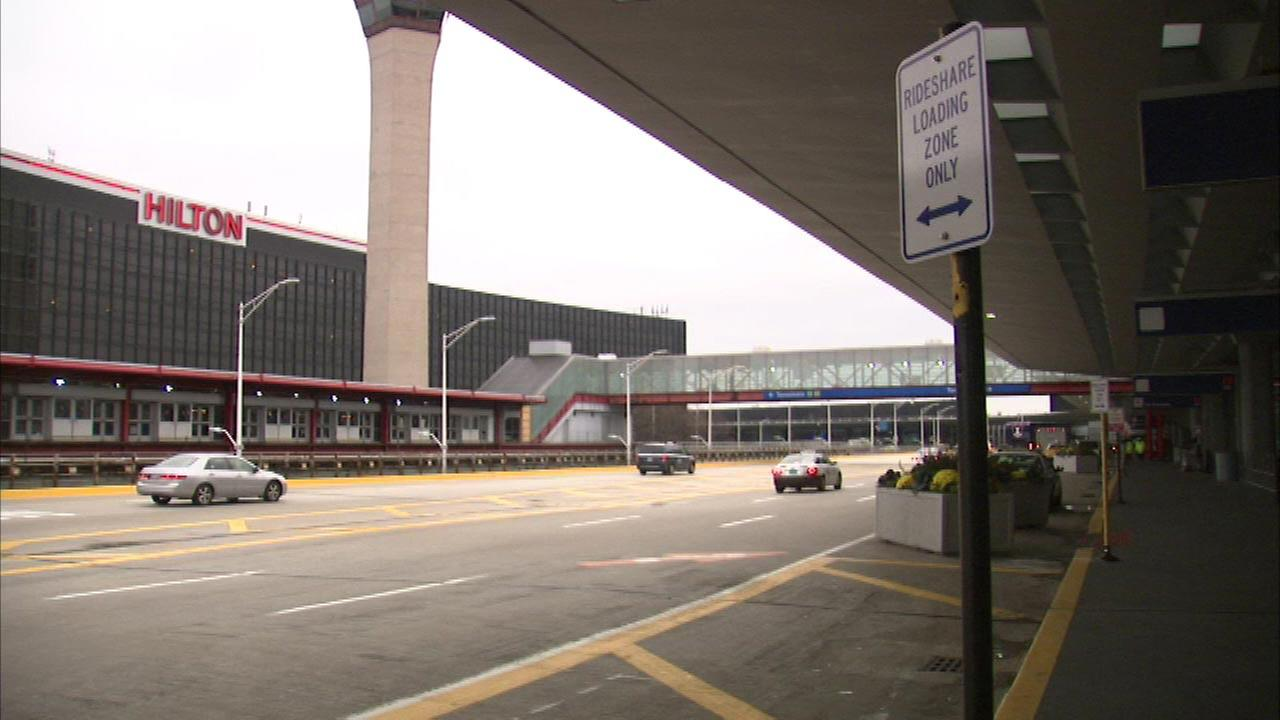 Rideshare lanes installed at O'Hare