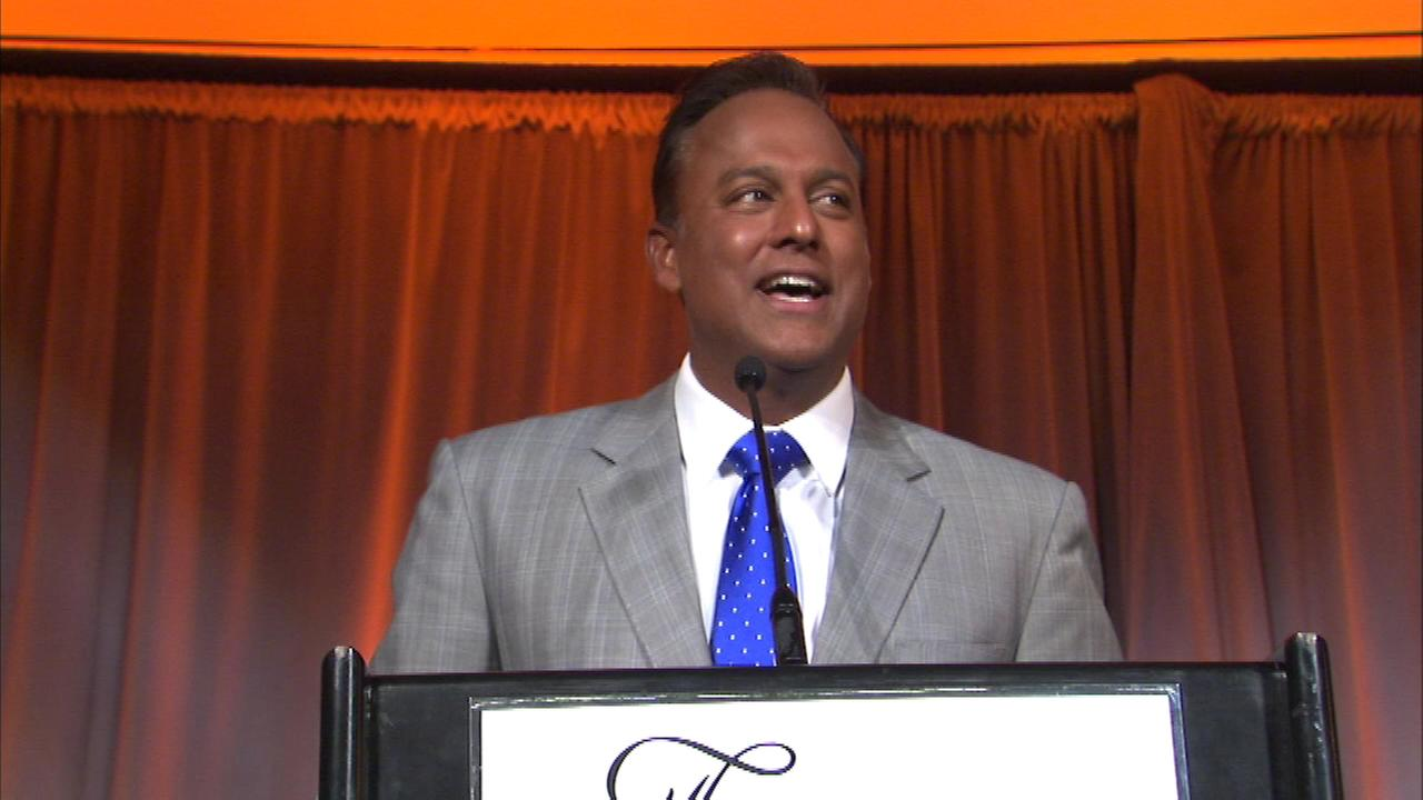 ABC7 News anchor Ravi Baichwal emceed the Mpower the Night gala at the Fairmont Chicago Saturday night.