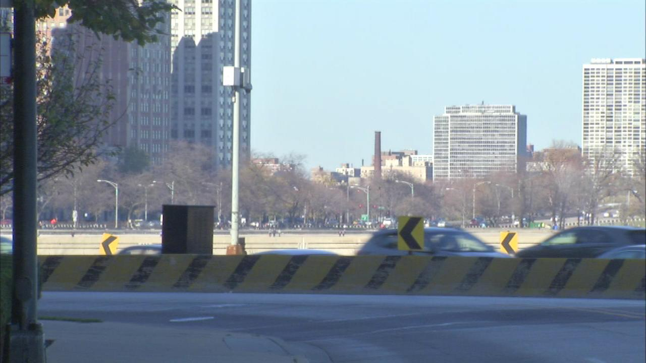 Full closures are planned Sunday and Monday night on southbound Lake Shore Drive at the Oak Street curve.