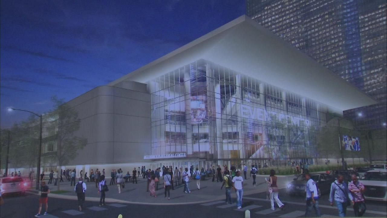 A rendering of the McCormick Place Event Center in the citys South Loop.