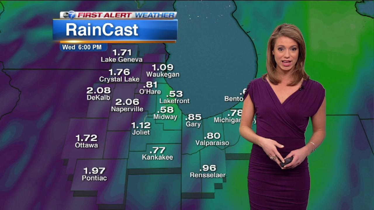 More wet weather is heading for Chicago this week.