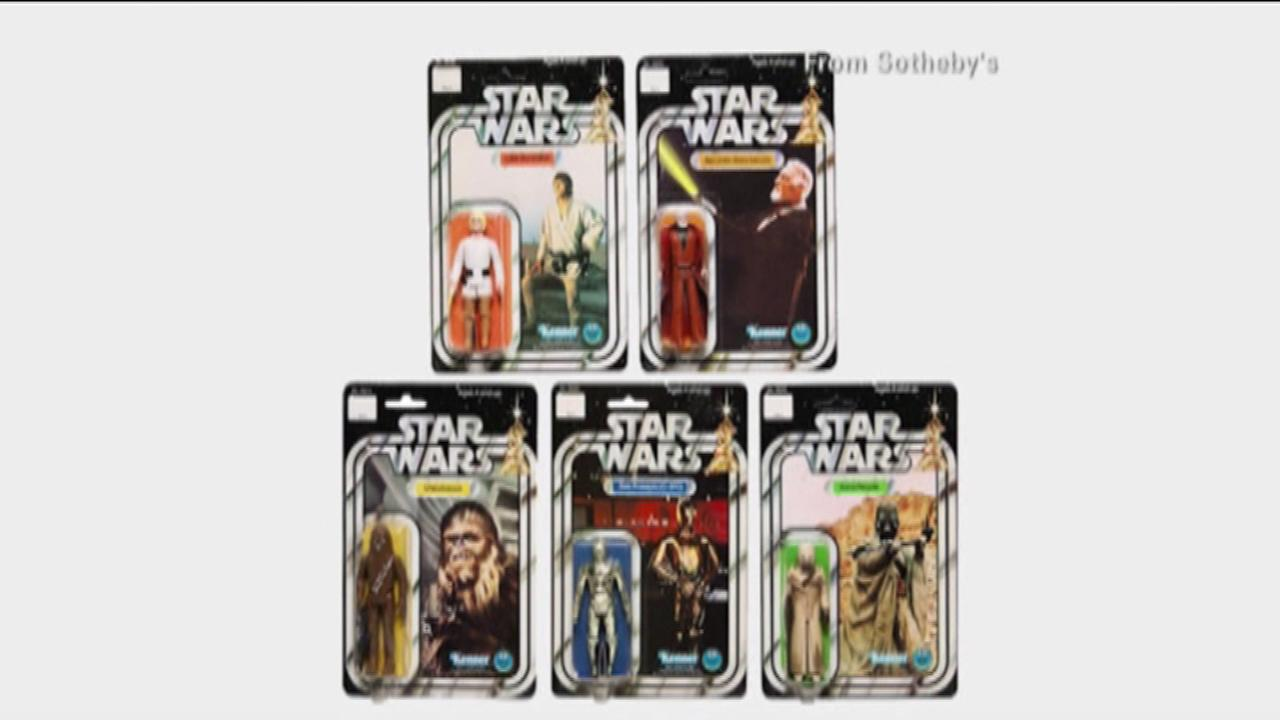 The Star Wars toy collection auction is December 11.