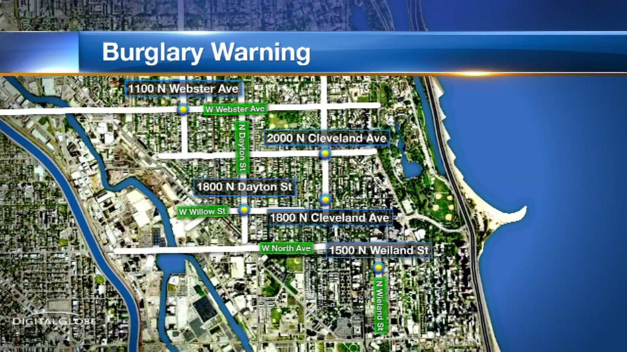 String of mid-day break-ins reported in Lincoln Park