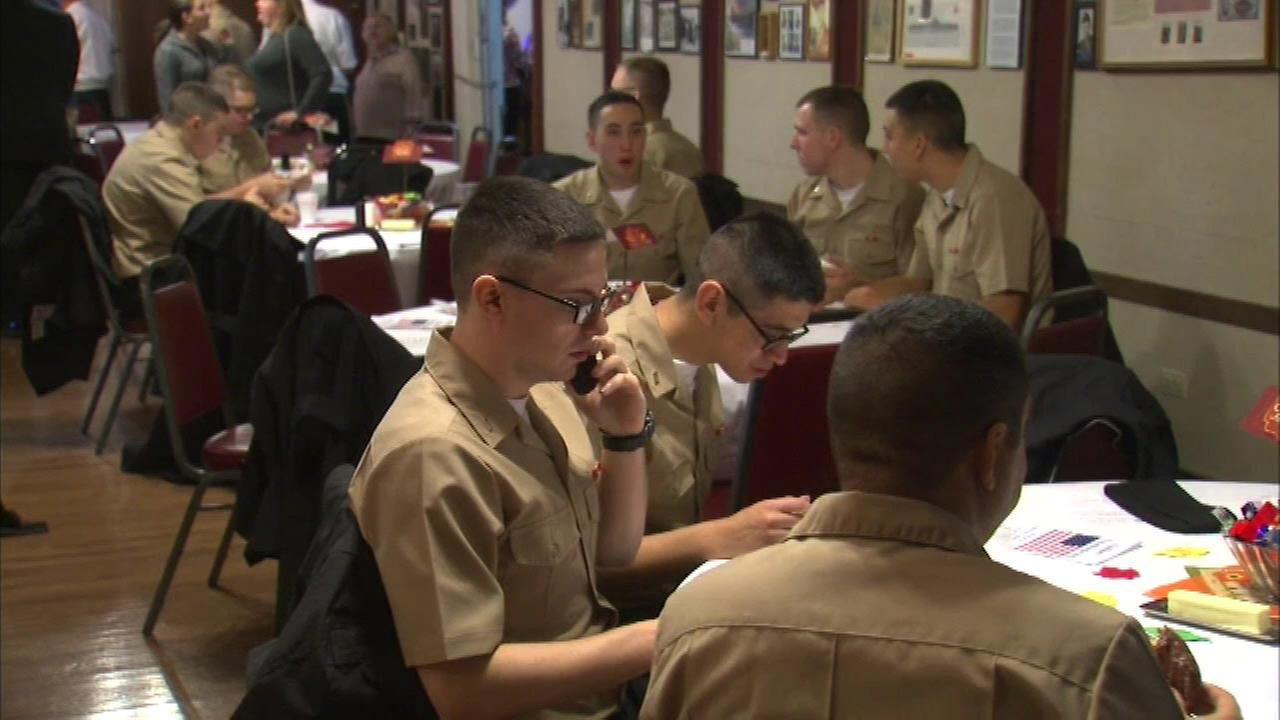 Great Lakes Naval Base sailors given Thanksgiving dinner