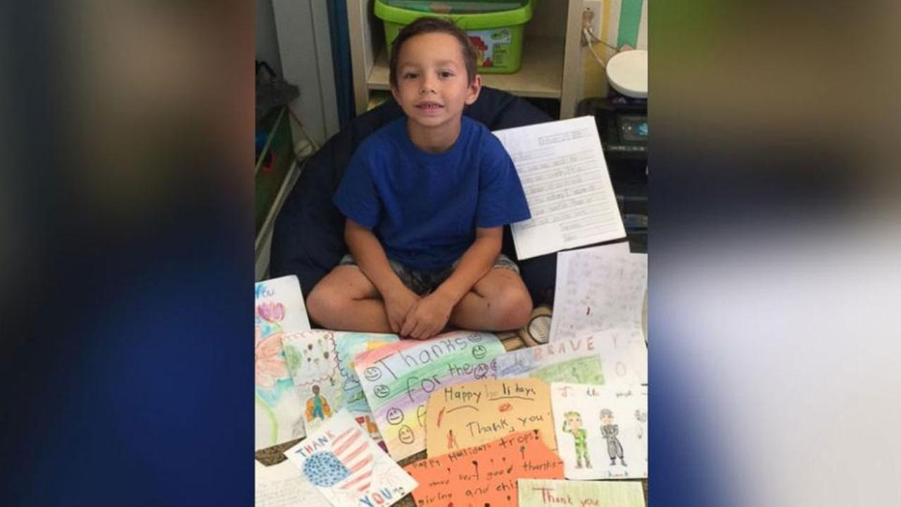 First grader's Thanksgiving project results in 500 cards for troops