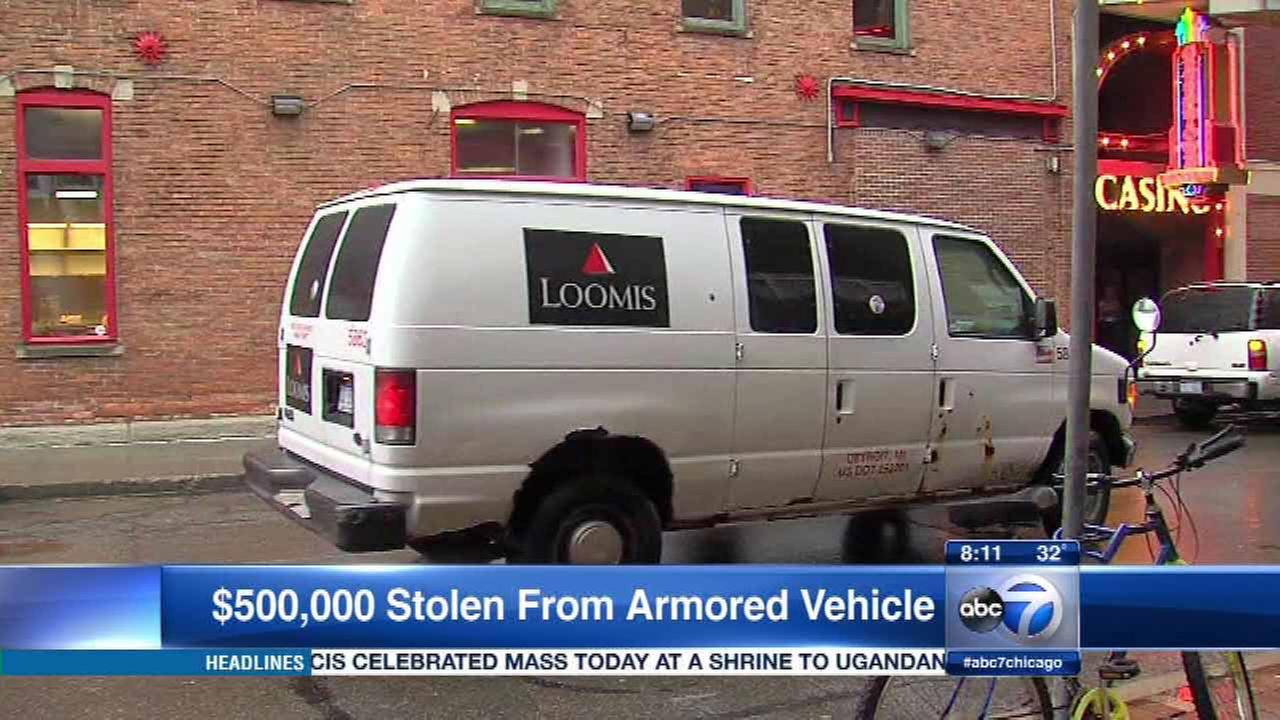 More than $500K stolen from armored car outside Detroit casino