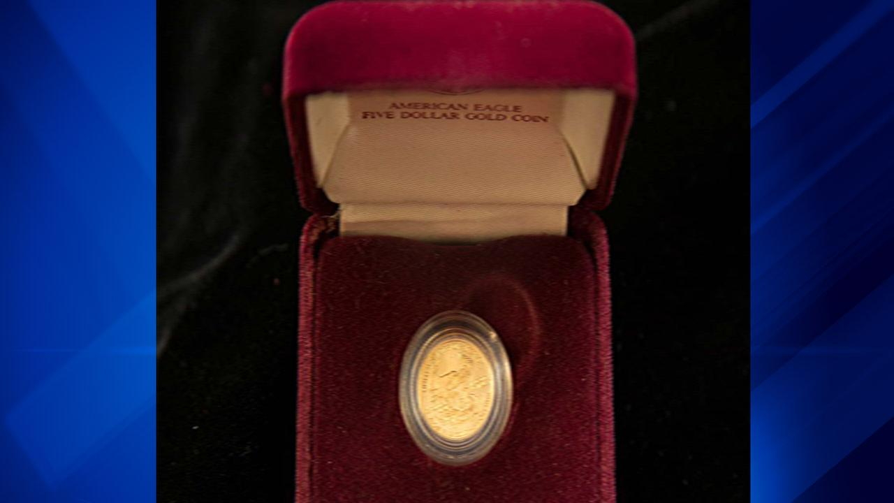 $5 American Eagle gold coin.