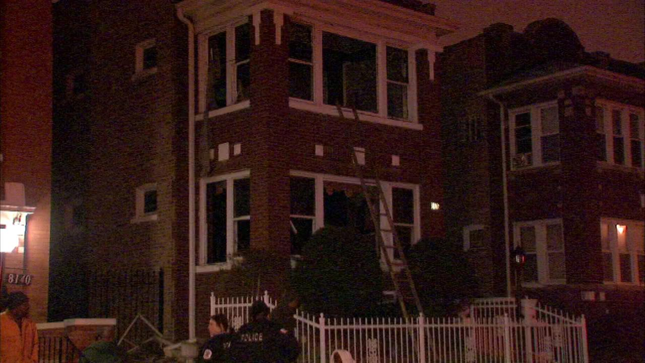 Three people were rescued from a fire in the Auburn Gresham neighborhood on Chicagos South Side.