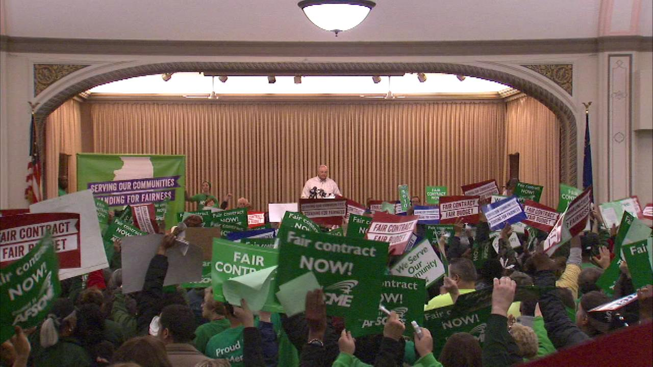 Unions 'Rally for Fairness' protest budget crisis