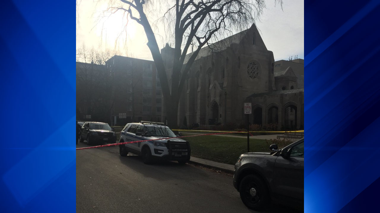 Police were investigating after a person was found dead at First United Methodist Church in Evanston.