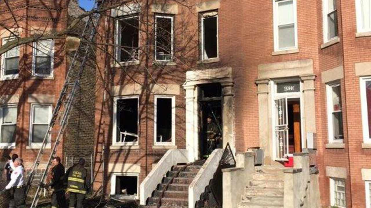 West Side building fire hospitalizes 3