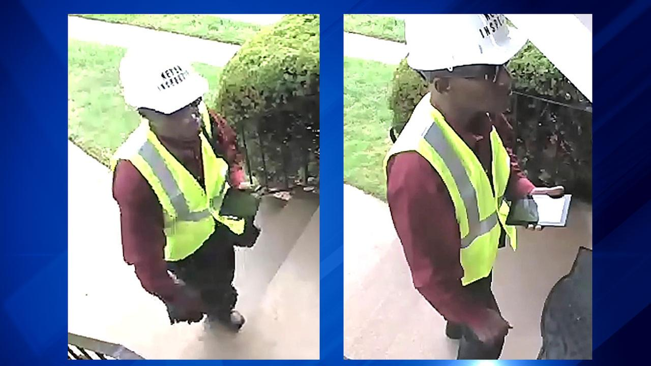 This man was captured on video before the crime on the front porch of the victims home.