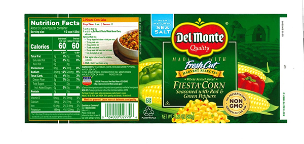 Del Monte Foods has voluntarily recalled some of its canned Fiesta Corn Seasoned with Red and Green Peppers due to under processing.