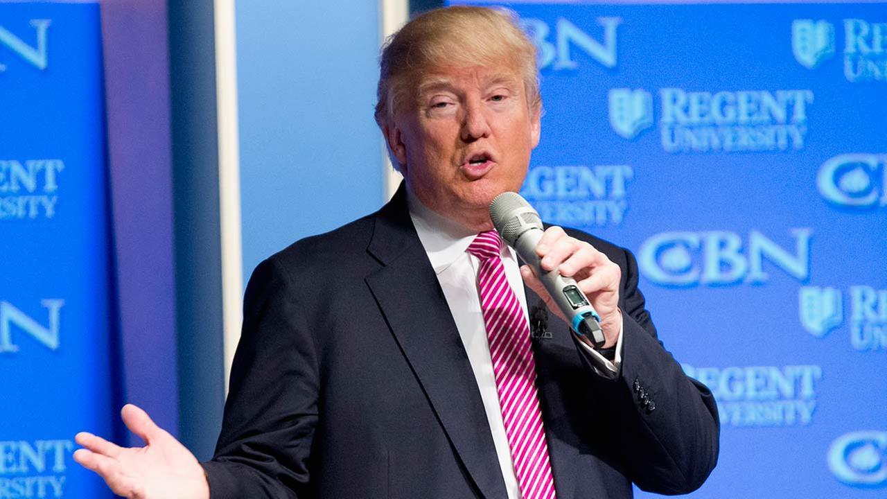 Republican presidential candidate Donald Trump speaks at Regent University in Virginia Beach, Va. on Feb. 24, 2016.