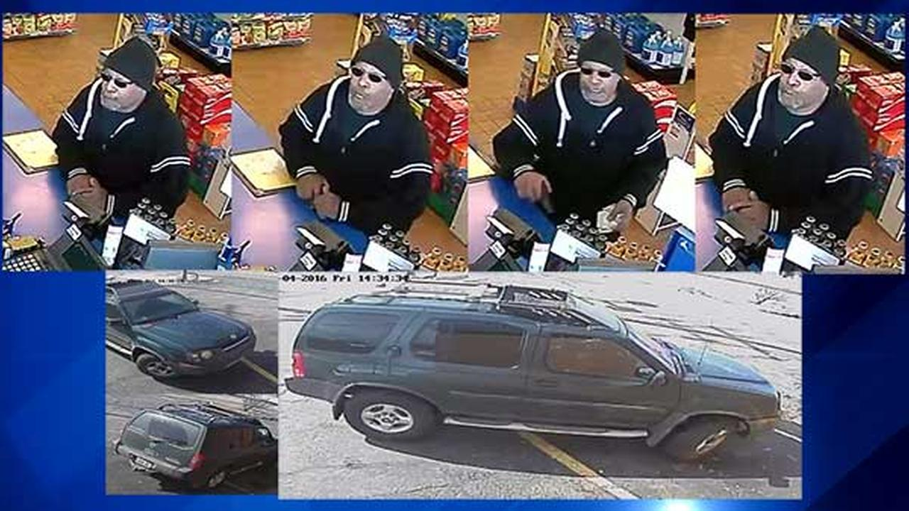 Surveillance images from the armed robbery at Marathon Gas on Rte. 134.