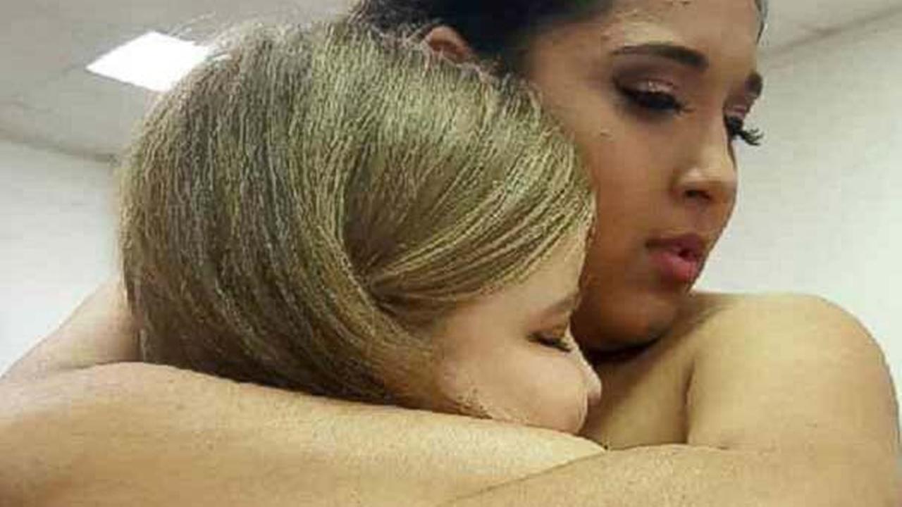 Monique Salinas, 15, meets Aubrey at her March 5 quinceanera in Benavides, Texas.