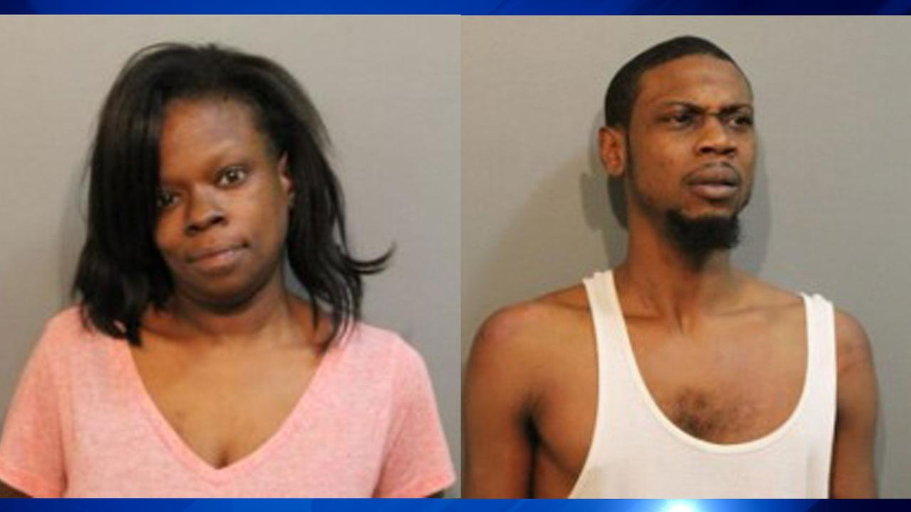 Charmaine Latrice Renfro, left, Anthony Harris, right.