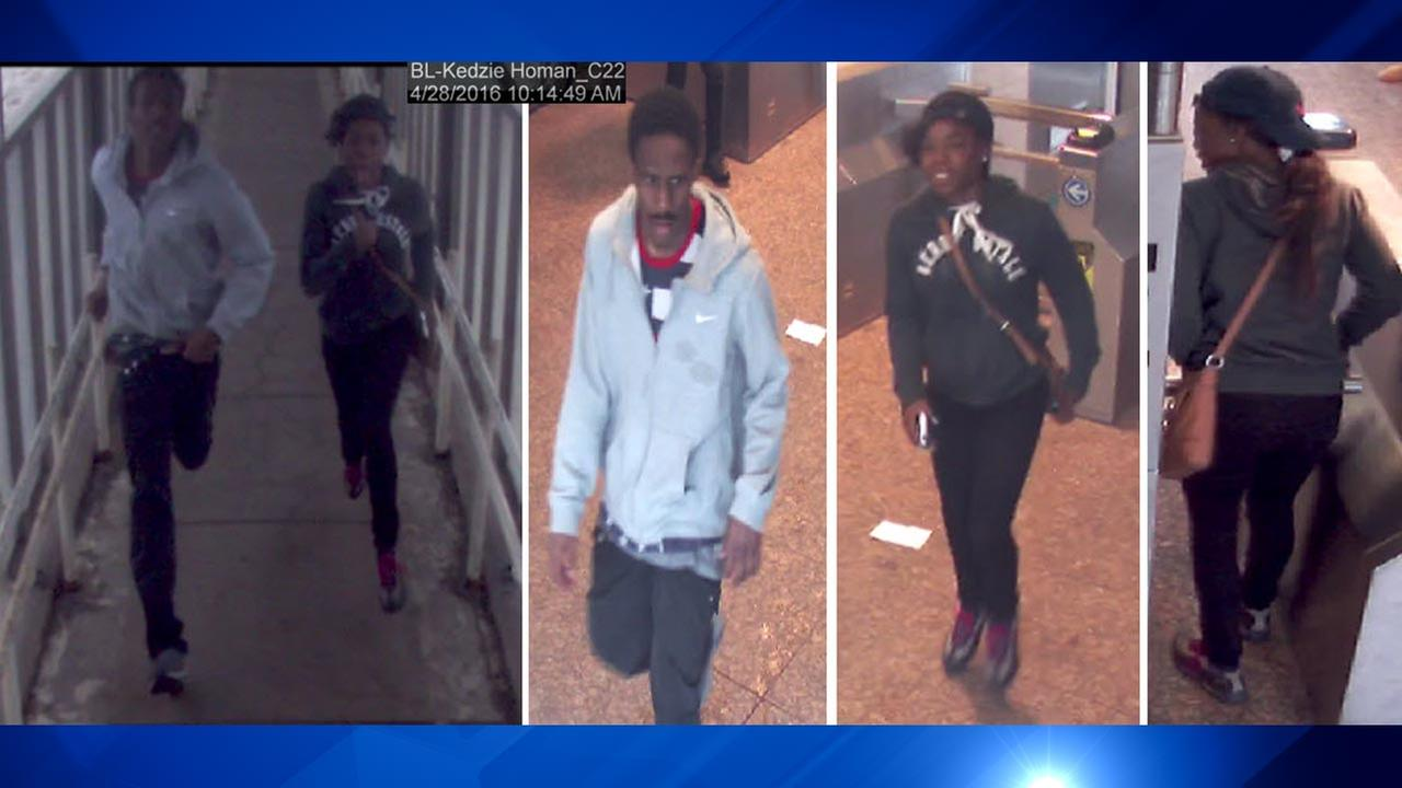Police release surveillance images in Blue Line robbery