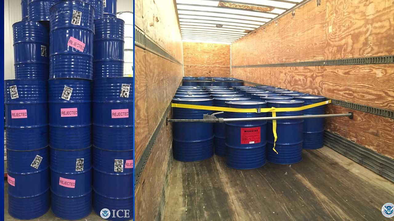The three shipping container loads (195 barrels) of bulk honey were illegally smuggled into the United States from China.