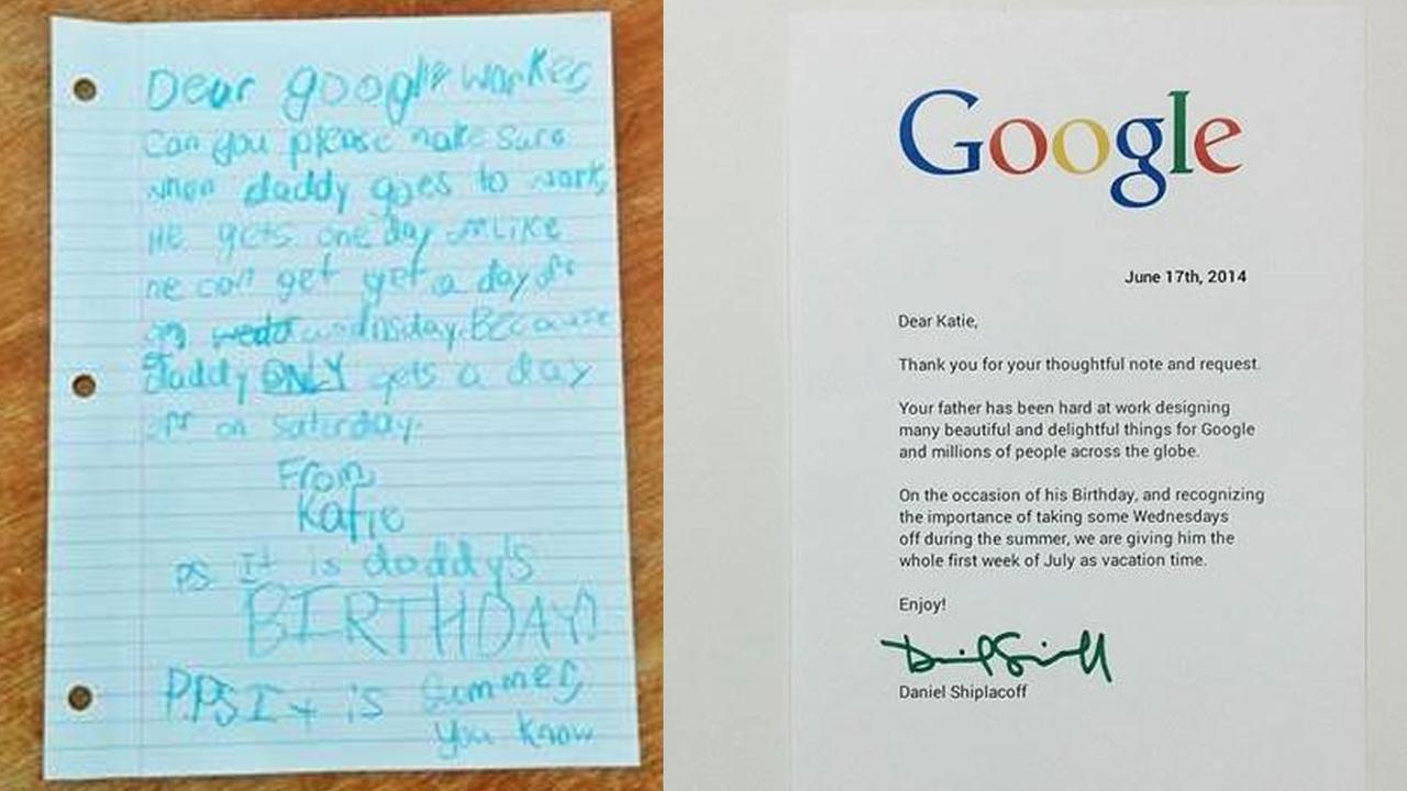 Adorable note gets a dad some well-deserved vacation