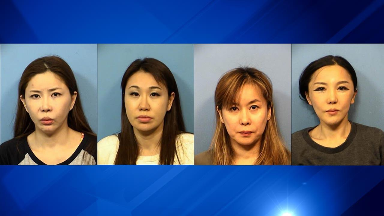 4 women arrested for prostitution, unlicensed massage in DuPage County
