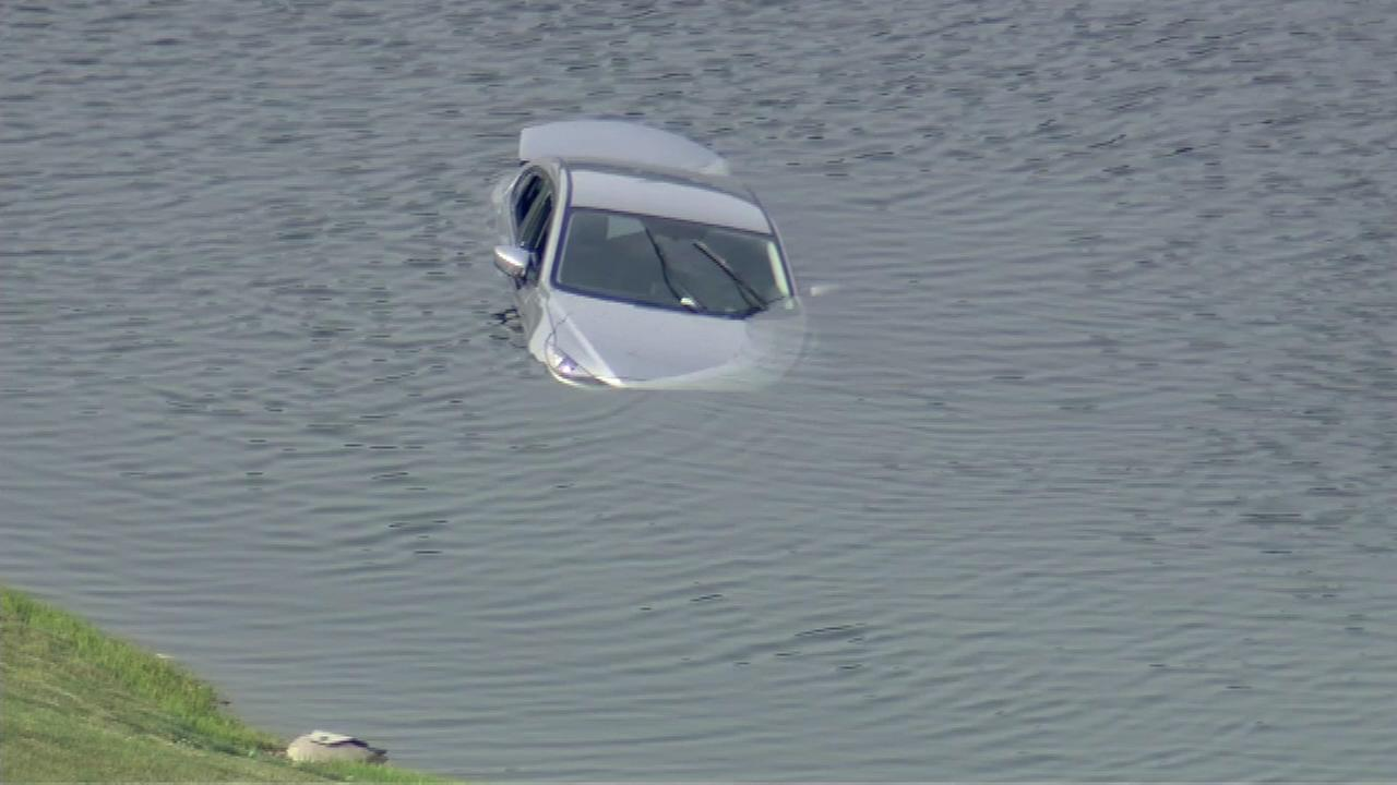 Car plunges into Mount Prospect pond