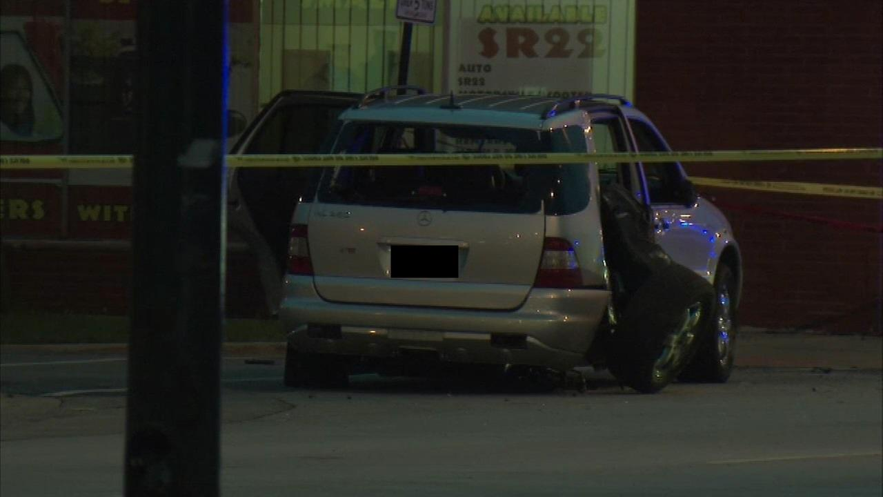 A man inside an SUV was killed in a shooting in the Asburn neighborhood Friday.