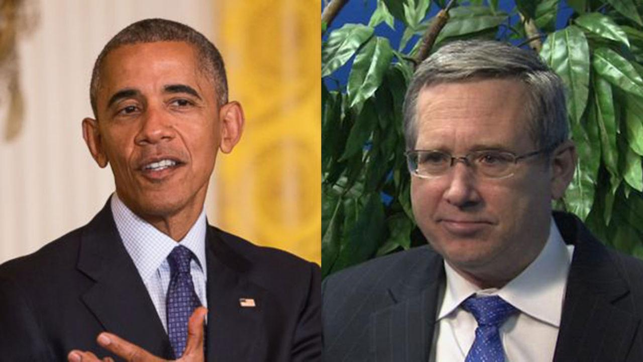 President Barack Obama (left) and U.S. Sen. Mark Kirk, R-Illinois.