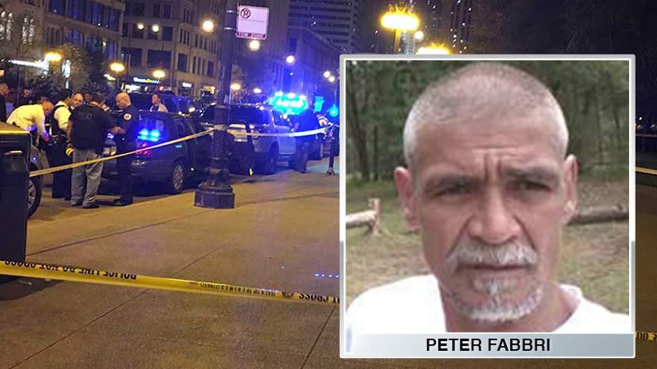 Peter Fabbri, 54, died after being shot near Millennium Park Saturday night.