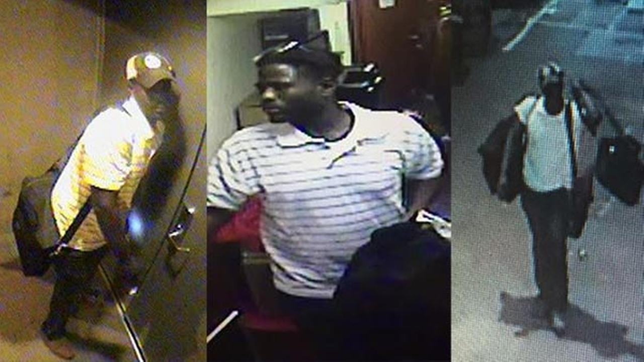 Chicago police released surveillance images of a man suspected in a string of burglaries in Chicagos Loop.
