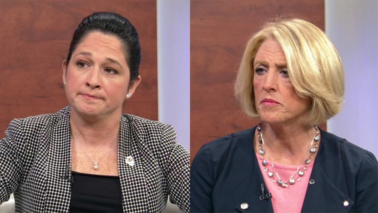 Illinois comptroller candidates Susana Mendoza (left) and Leslie Munger (right).
