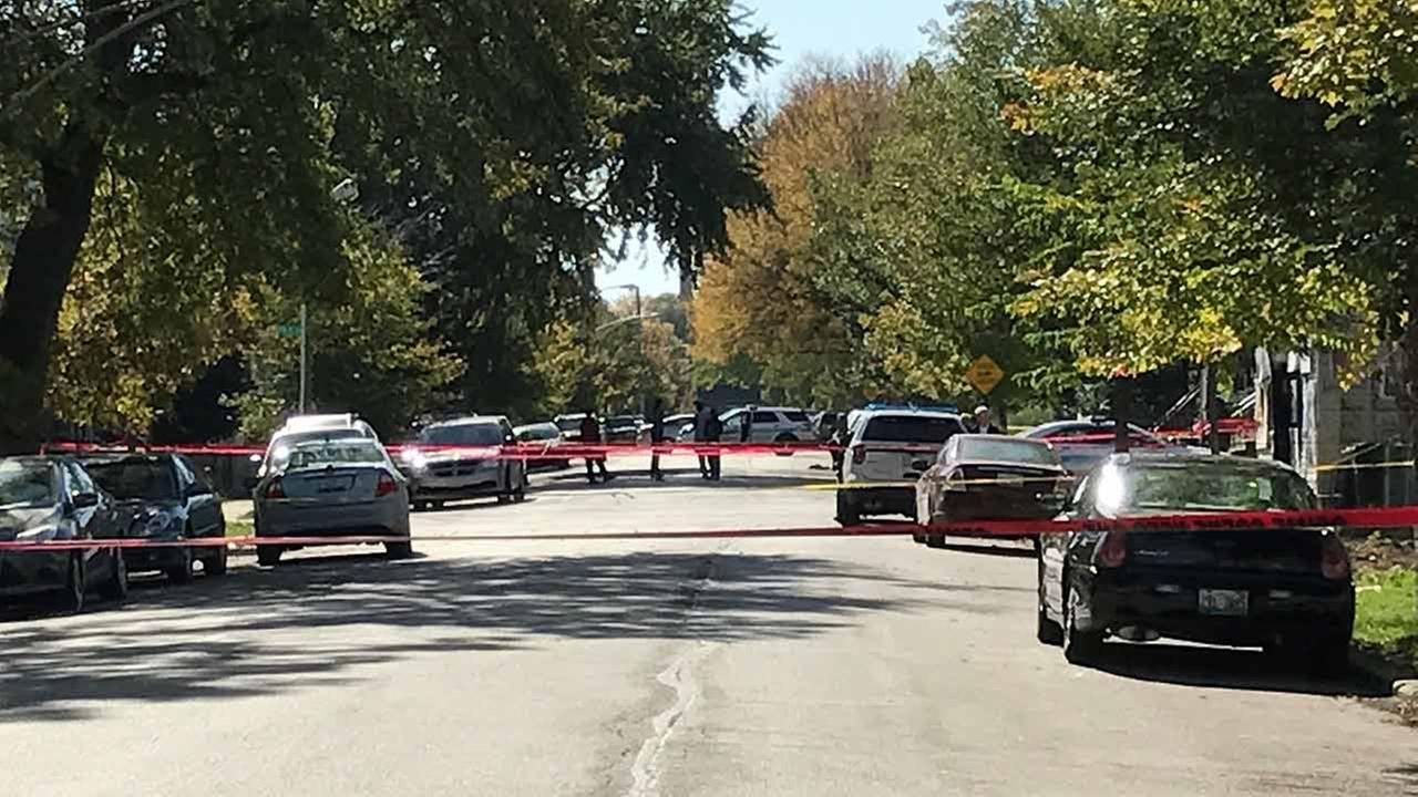 Chicago police on the scene of a police-involved shooting in the Englewood neighborhood.