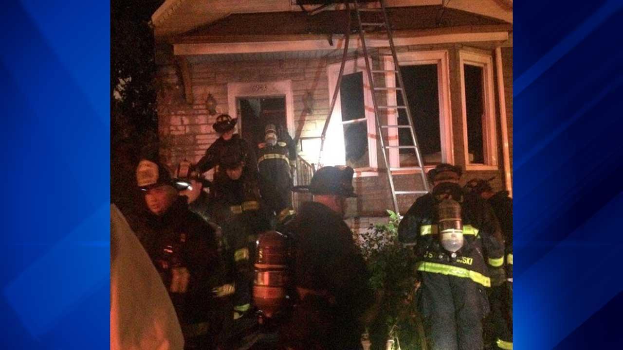 Fire on South Paulina Street