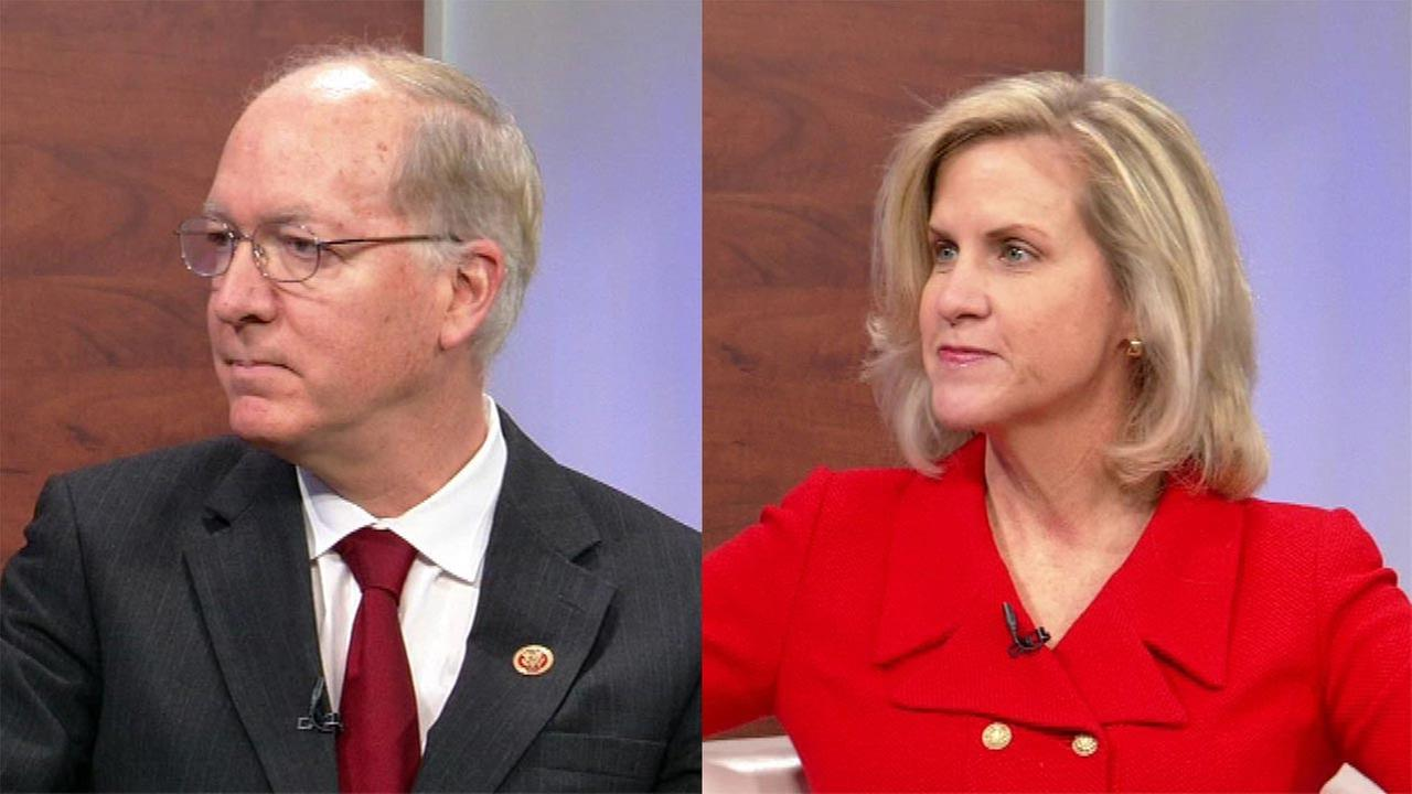Democratic incumbent Bill Foster (left) and Republican challenger Tonia Khouri (right).