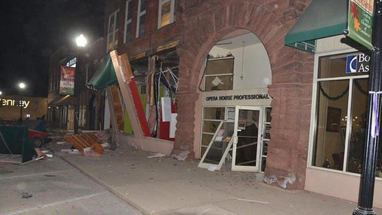 An explosion was reported in downtown Canton Wednesday evening.