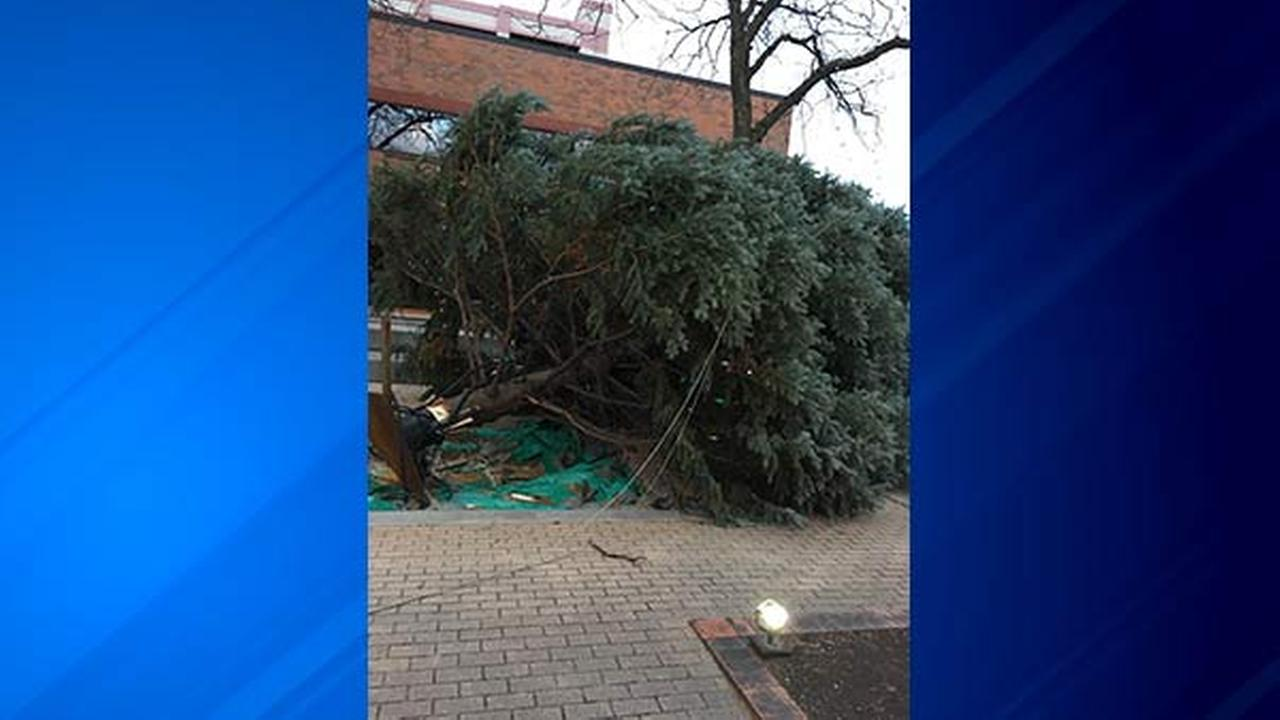 Mother Nature has put a dent in the Christmas plans for the city of Aurora.
