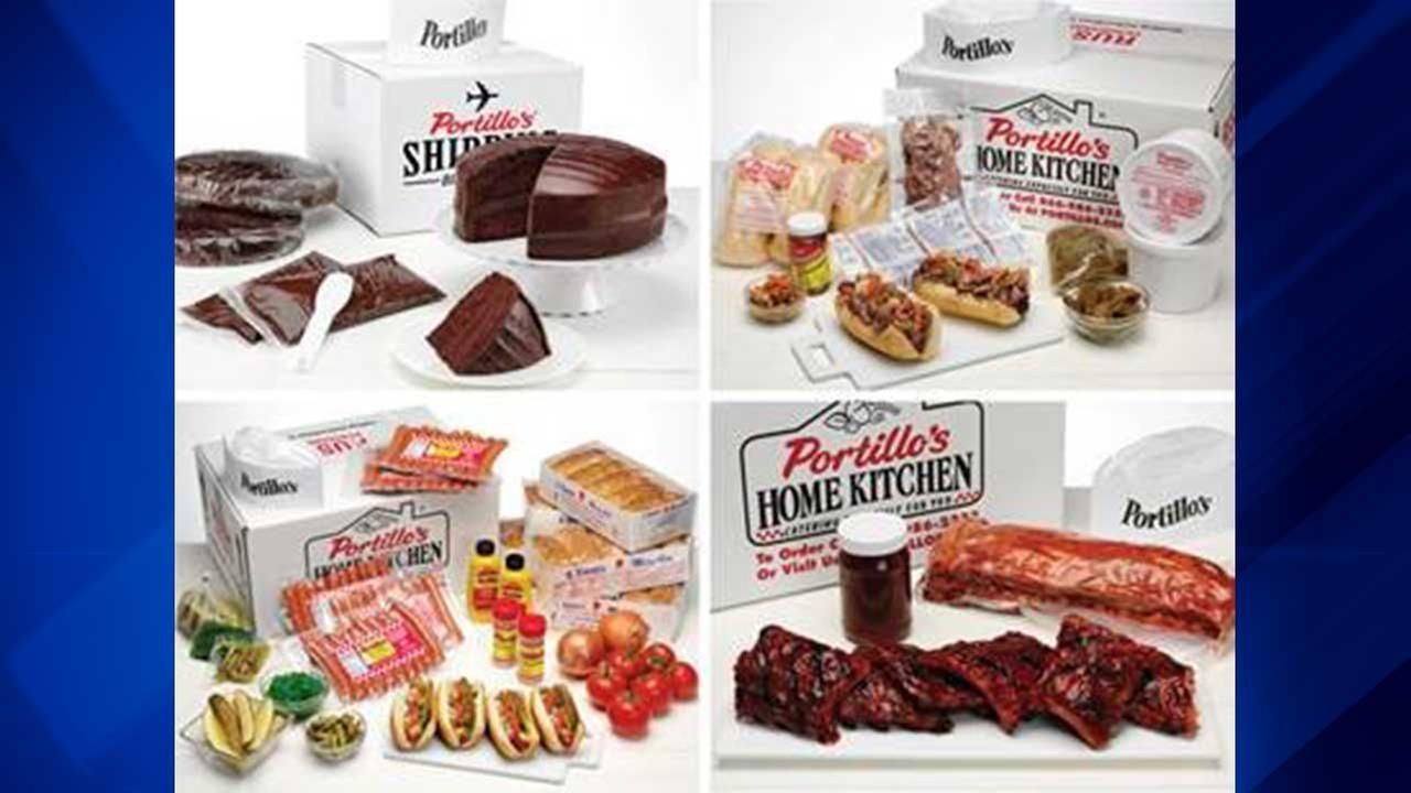 Portillos offers shipping for chocolate cake, other menu items