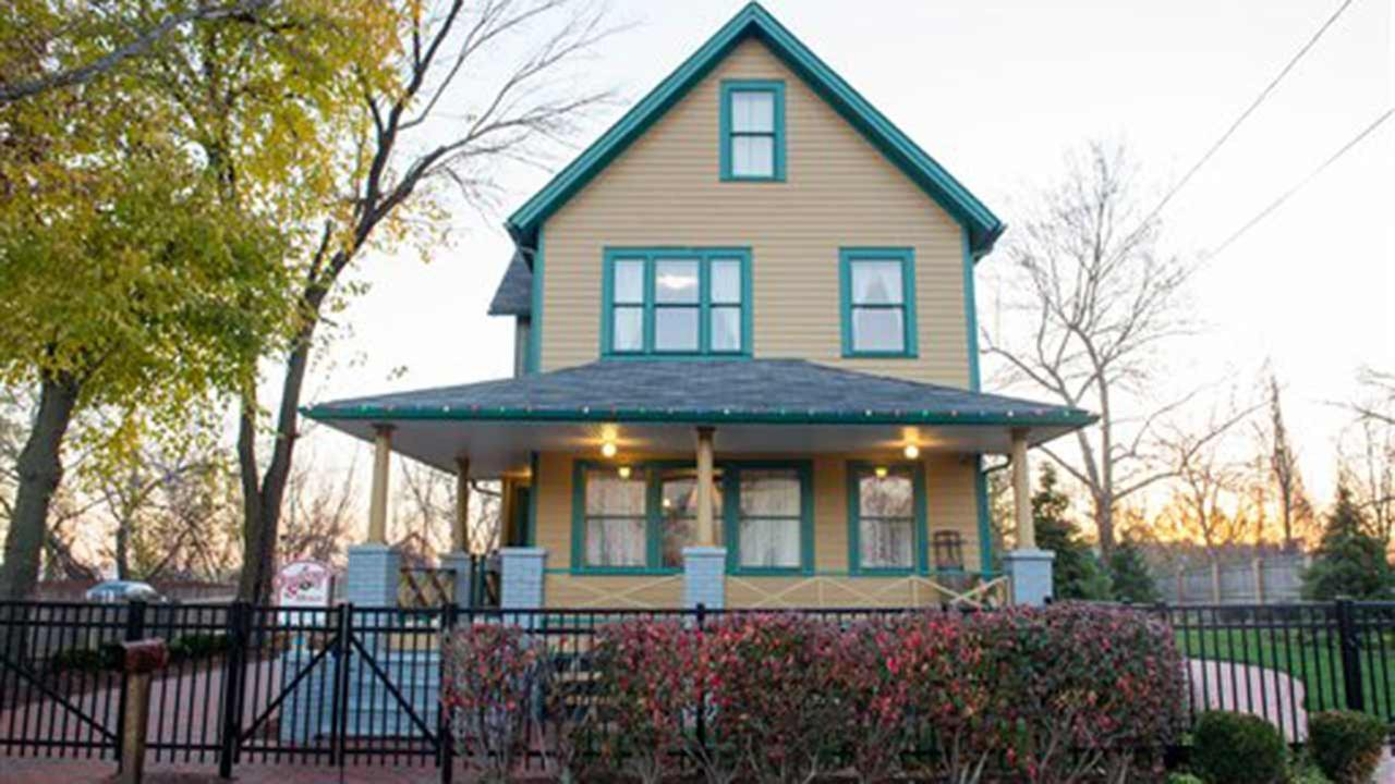 In this image released on Wednesday, Dec. 2, 2015, the exterior of A Christmas Story House and Museum in Cleveland.
