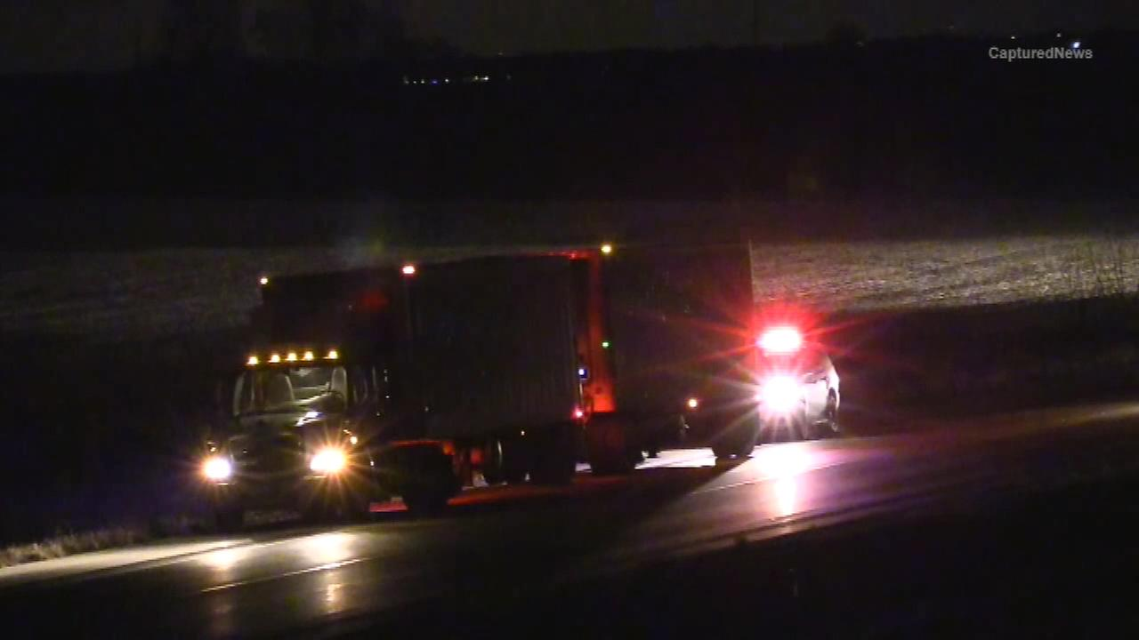A 52-year-old Chicago man was fatally struck on I-80 in Seneca, Ill. Monday night, police said.