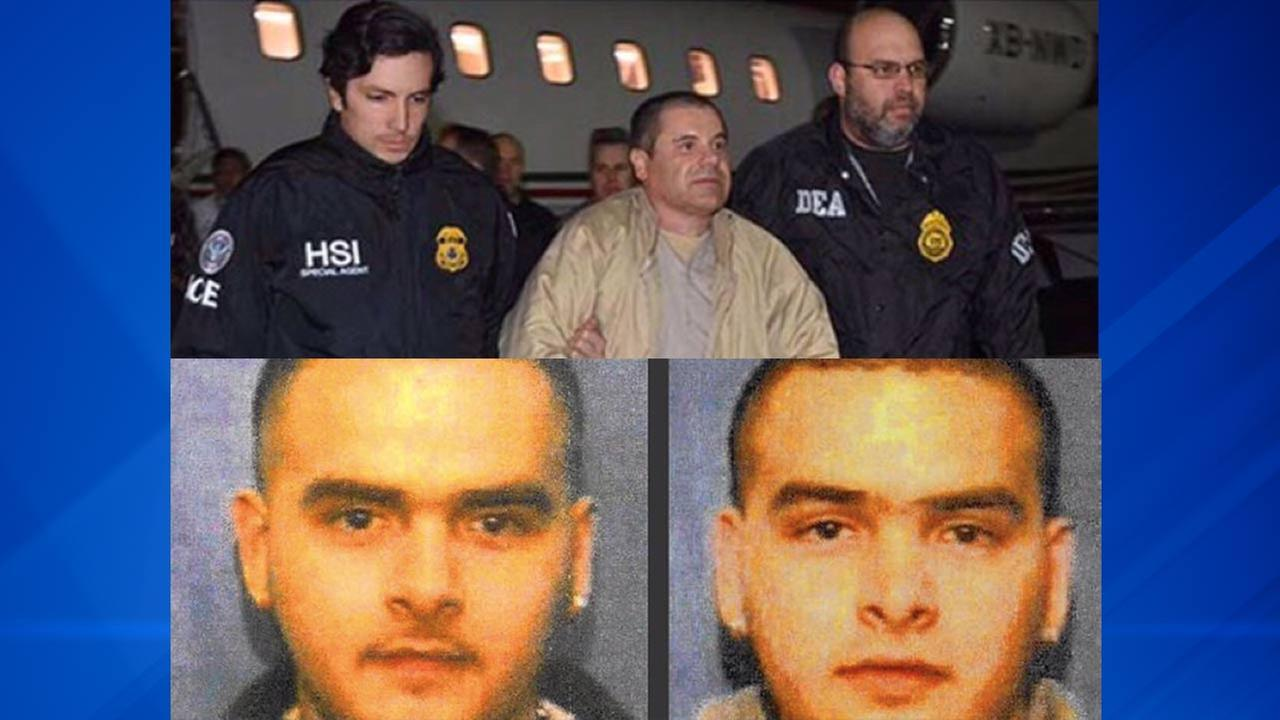 El Chapo (top) and Pedro Flores (bottom left) and Margarito Flores (bottom right)