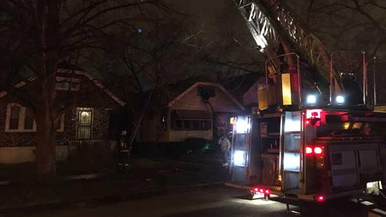 A Chicago firefighter was injured Saturday evening while battling a house fire on Chicagos South Side.