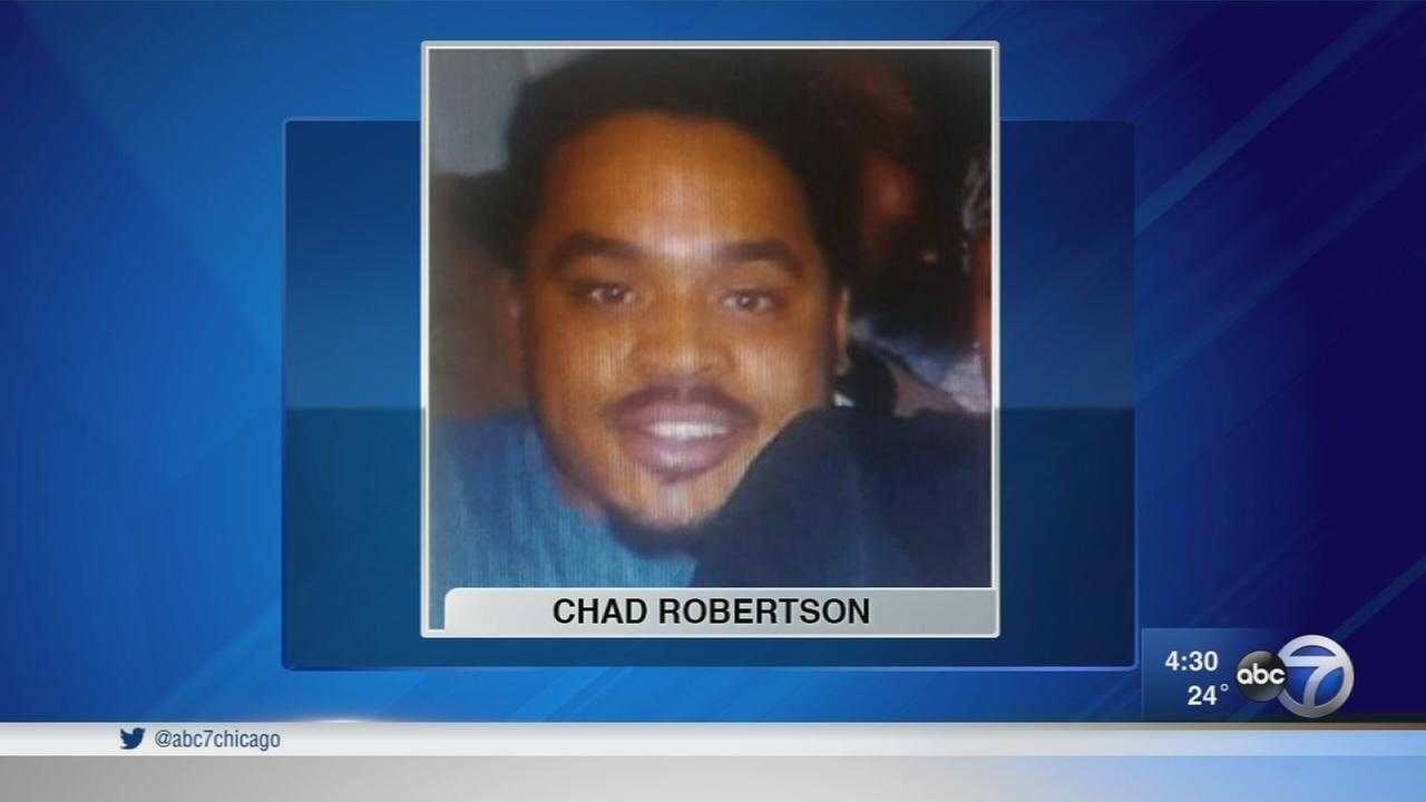 Chad Robertson, 25, was shot by an Amtrak police officer outside Union Station