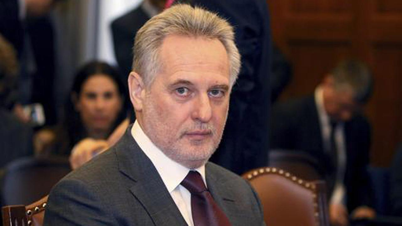 Ukrainian oligarch Dmitry Firtash waits for the start of his hearing at the courts of justice in Vienna, Austria, Tuesday, Feb. 21, 2017.