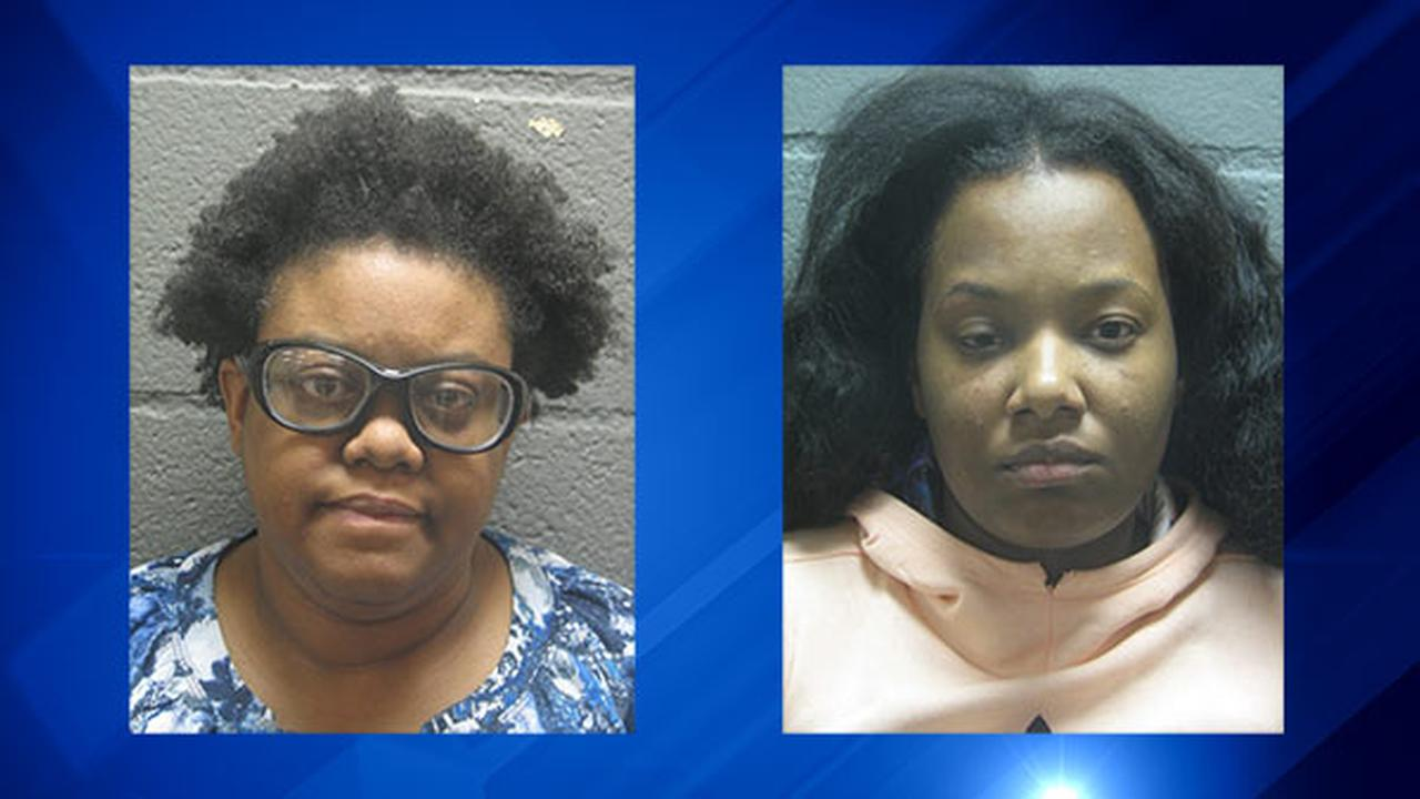 Lisa Archer, left, and Ronkeia Harper, right