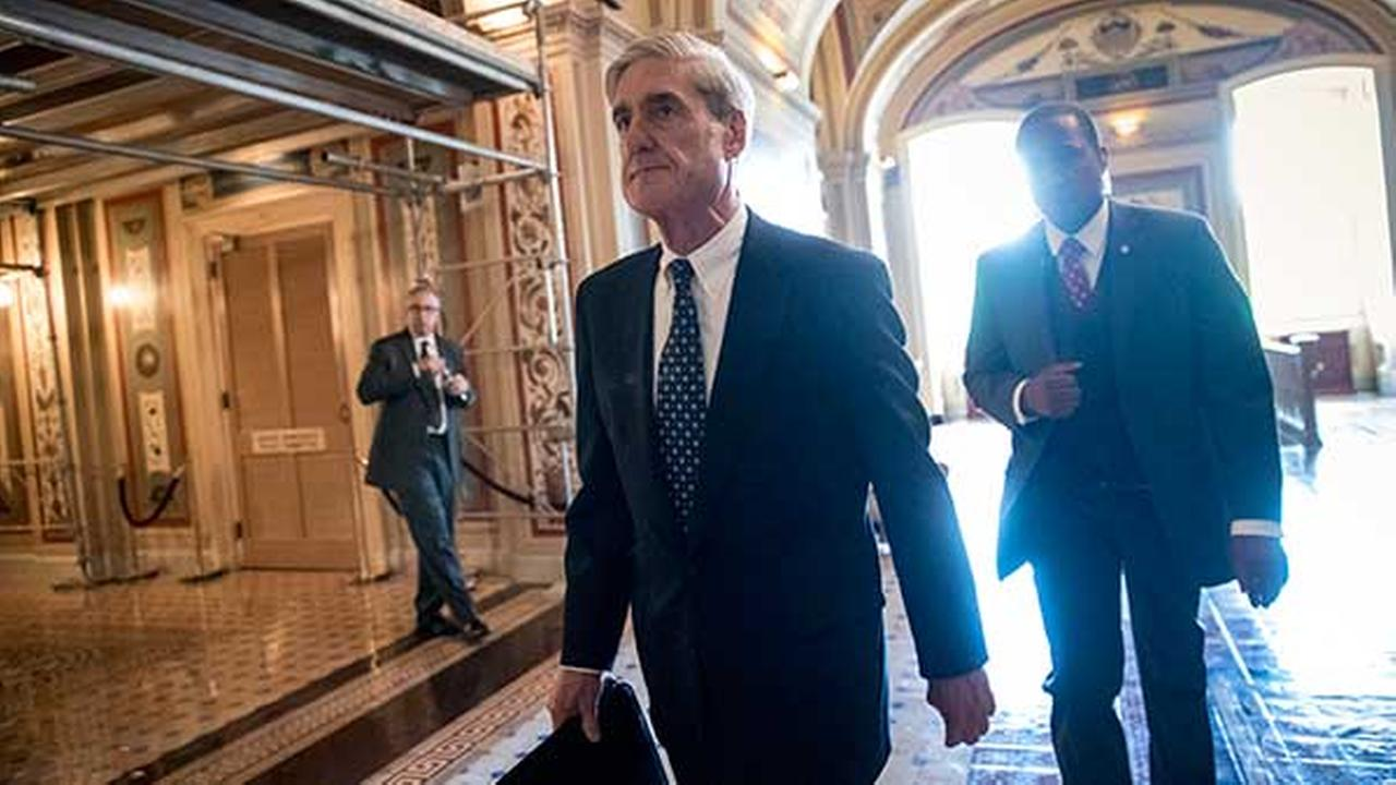 Special Counsel Robert Mueller departs after a closed-door meeting with members of the Senate Judiciary Committee on Wednesday, June 21, 2017.