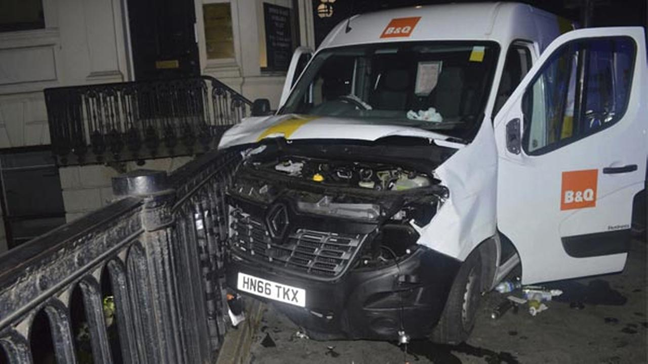 The van used in the London Bridge attacks of Saturday June 3 which killed several people and wounded dozens more.