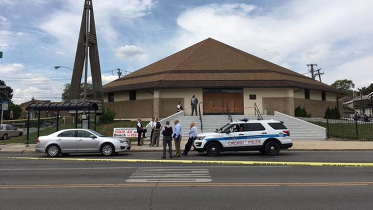 The shooting happened in the 200-block of South Laramie Avenue around 11:19 a.m.